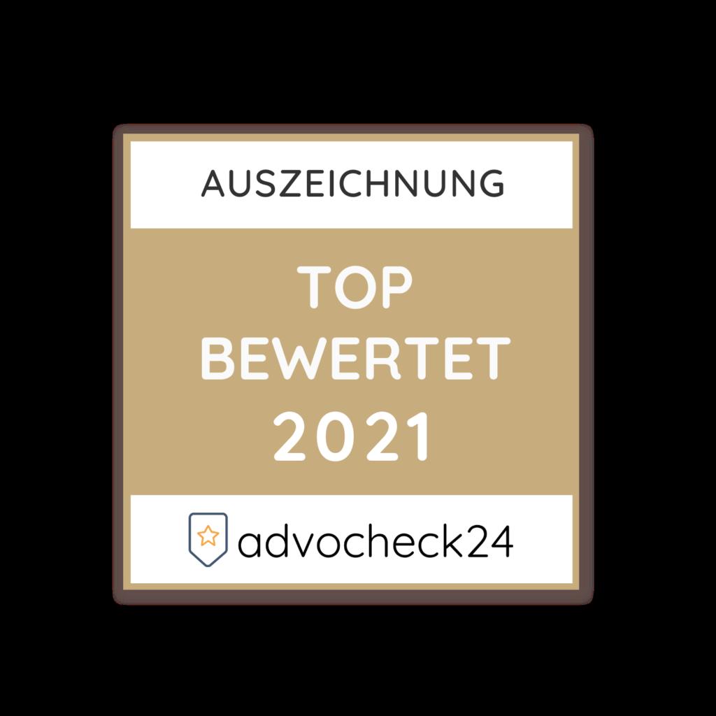 advocheck24 Auszeichnung Top Bewertet